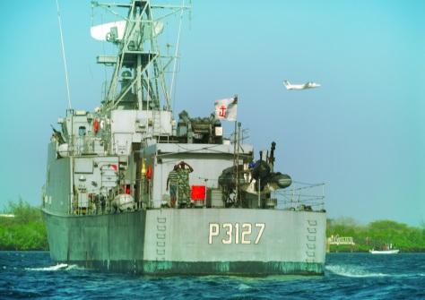 Kenya navy boat