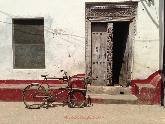 ZANZIBAR DOOR AND BIKE, STONE TOWN, 2013